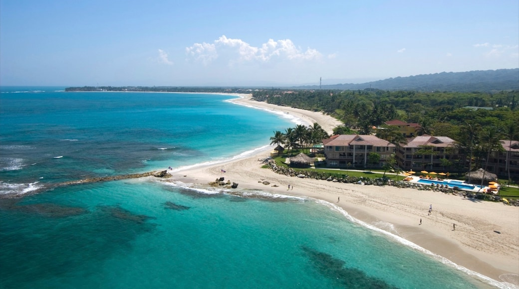 Cabarete showing tropical scenes, a beach and a luxury hotel or resort