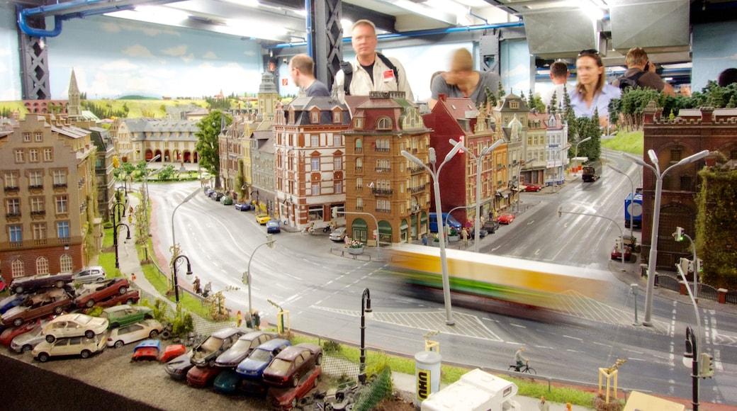 Miniatur Wunderland som viser karusell og innendørs