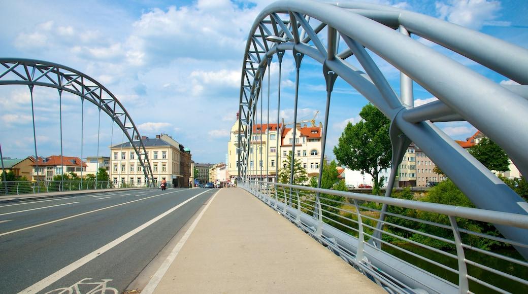 Bamberg das einen Brücke und Straßenszenen