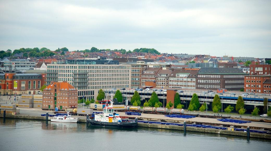 Kiel das einen Stadt, Skyline und Küstenort