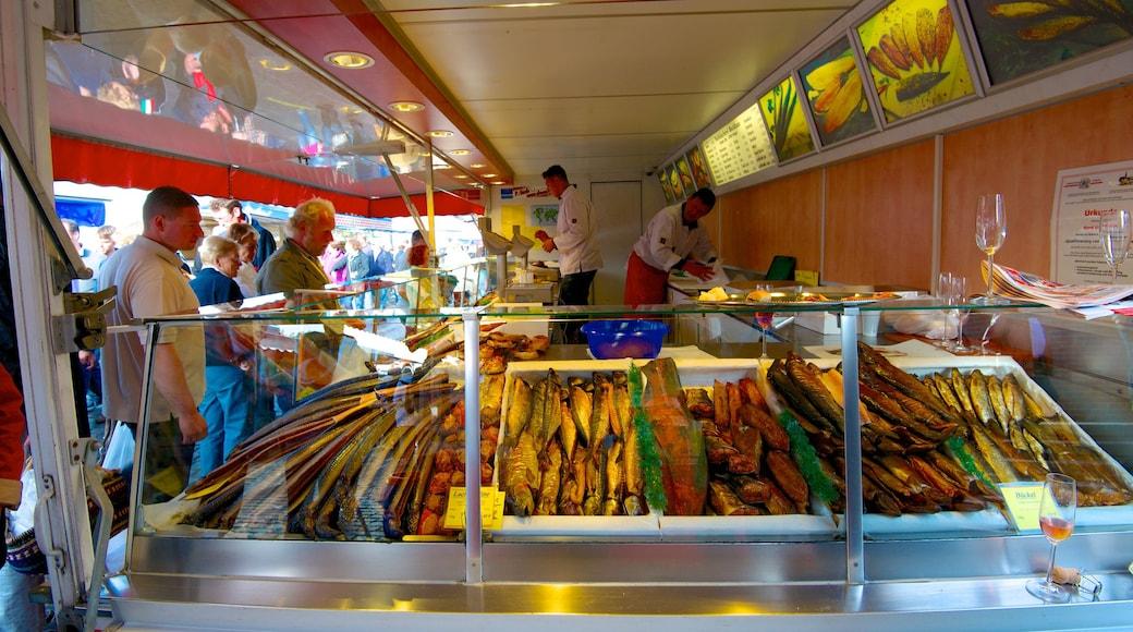 Fish Market showing interior views, markets and food