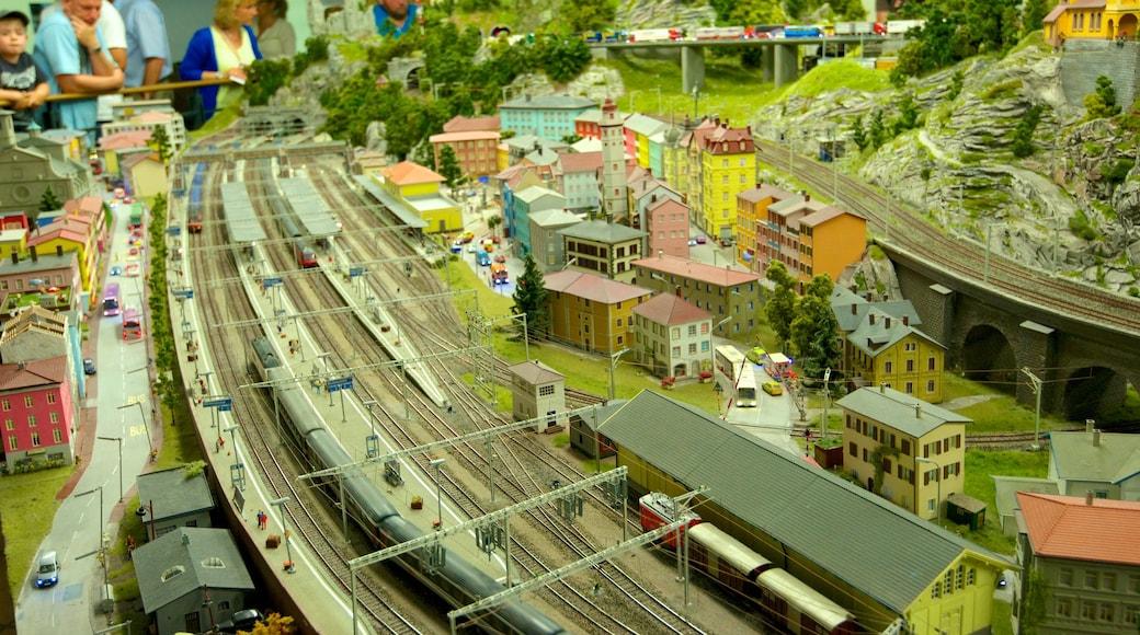 Miniatur Wunderland som viser innendørs og karusell