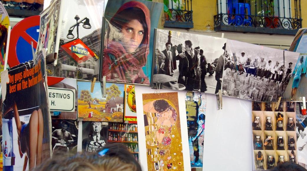 El Rastro joka esittää markkinat ja taide