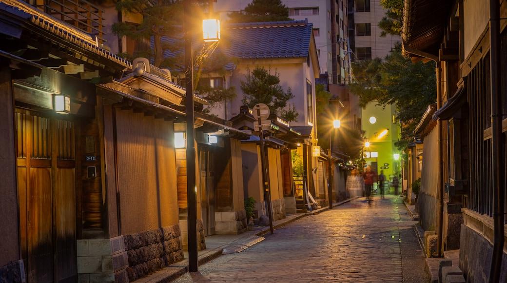 Nagamachi Samurai District featuring night scenes
