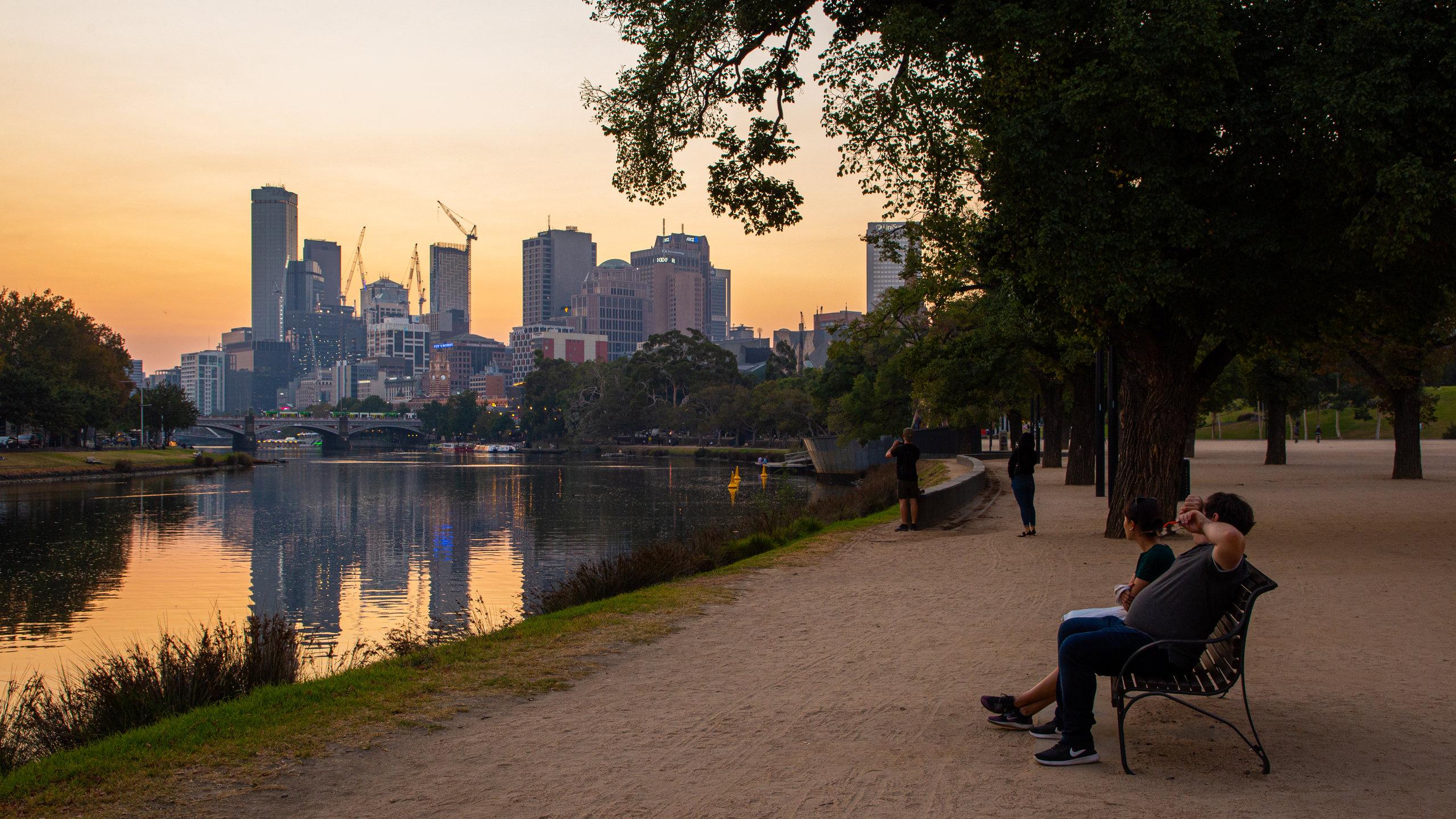 Birrarung Marr Park, Melbourne, Victoria, Australië