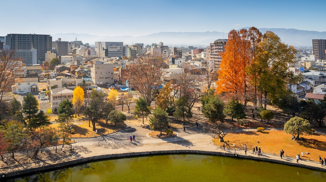 Matsumoto Castle which includes a city and landscape views