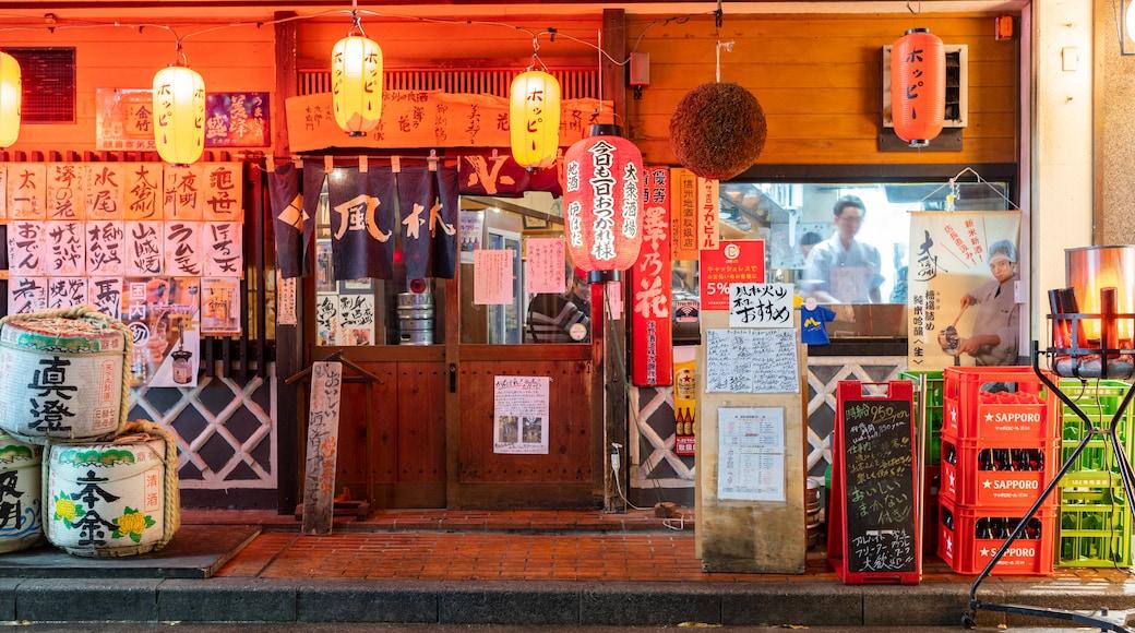 Matsumoto showing signage