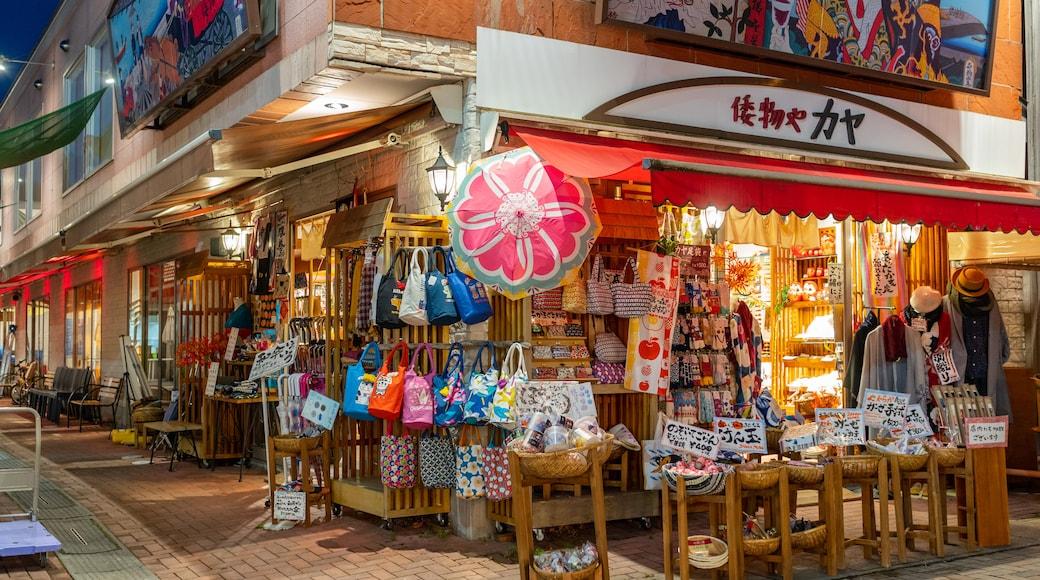 Karuizawa which includes night scenes and markets