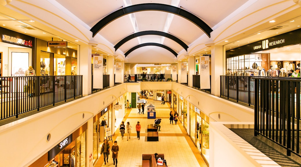 Mitsui Outlet Park featuring interior views and shopping