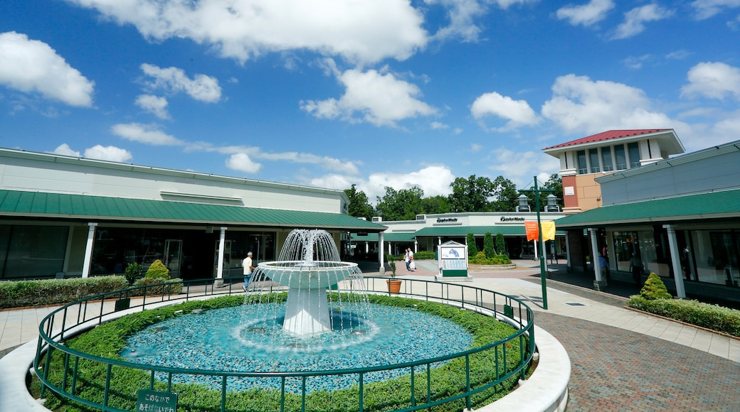 Gotemba Premium Outlets which includes a fountain