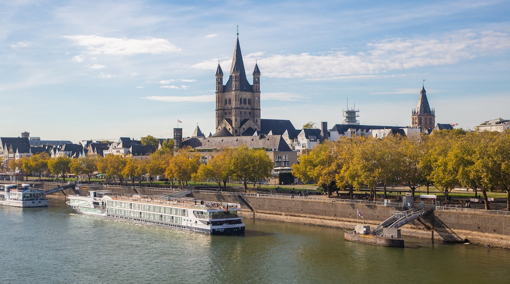 Cologne featuring heritage architecture, cruising and a river or creek