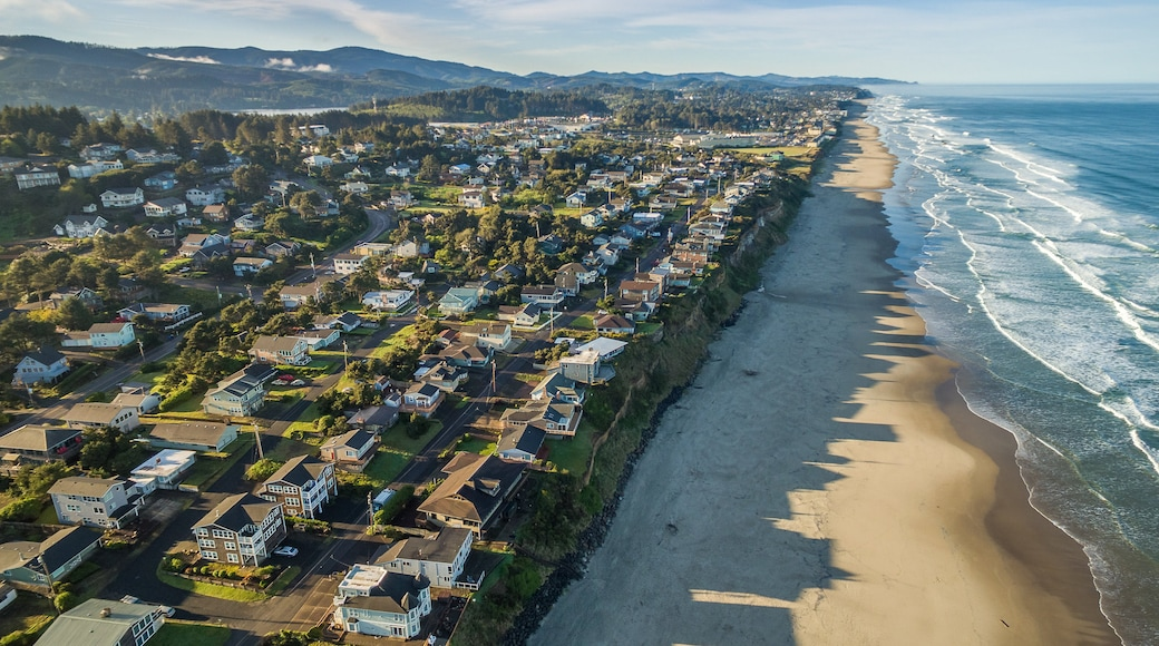 Lincoln City featuring landscape views, general coastal views and a coastal town