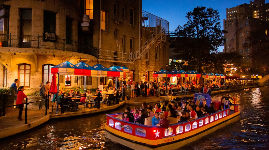 River Walk featuring a river or creek, boating and night scenes
