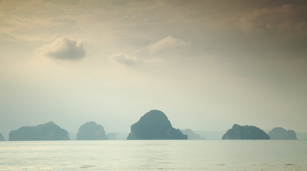 Krabi featuring landscape views, mist or fog and a bay or harbor
