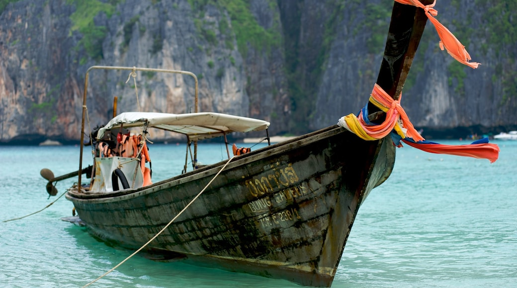 Krabi which includes boating, rugged coastline and a bay or harbour