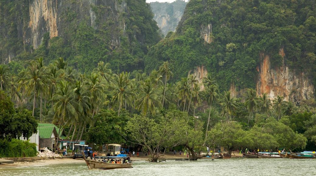 Krabi showing boating, tropical scenes and general coastal views