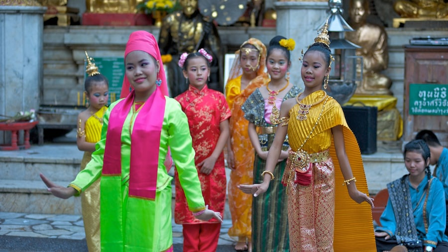 Chiang Mai which includes fashion and performance art as well as a small group of people