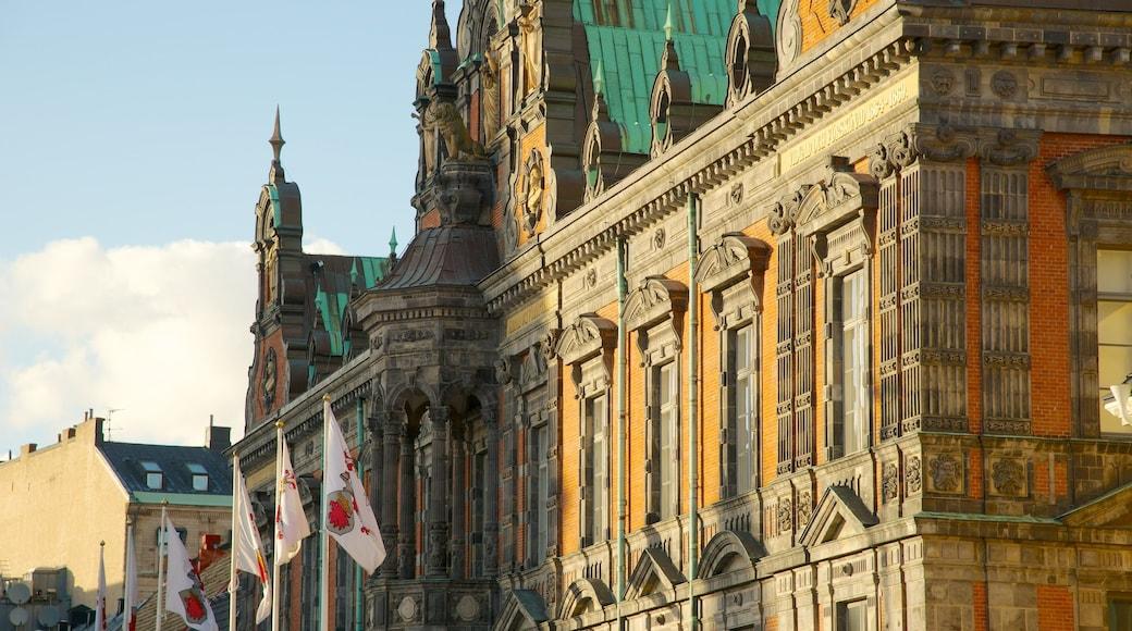 Rådhuset som visar historisk arkitektur och en administrativ byggnad