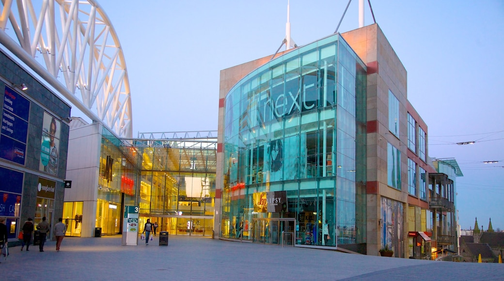 Bullring Shopping Centre showing modern architecture and shopping