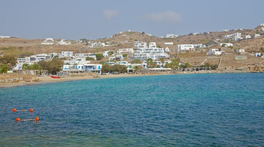 Mykonos welches beinhaltet allgemeine Küstenansicht und Küstenort