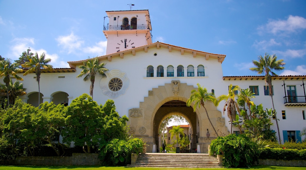 Santa Barbara County Courthouse featuring a luxury hotel or resort and heritage architecture