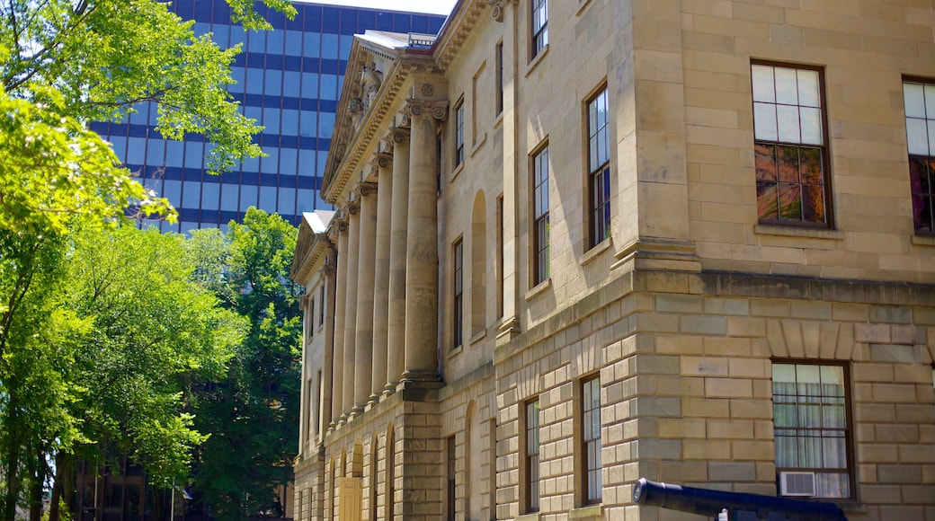 Province House showing an administrative buidling and heritage architecture