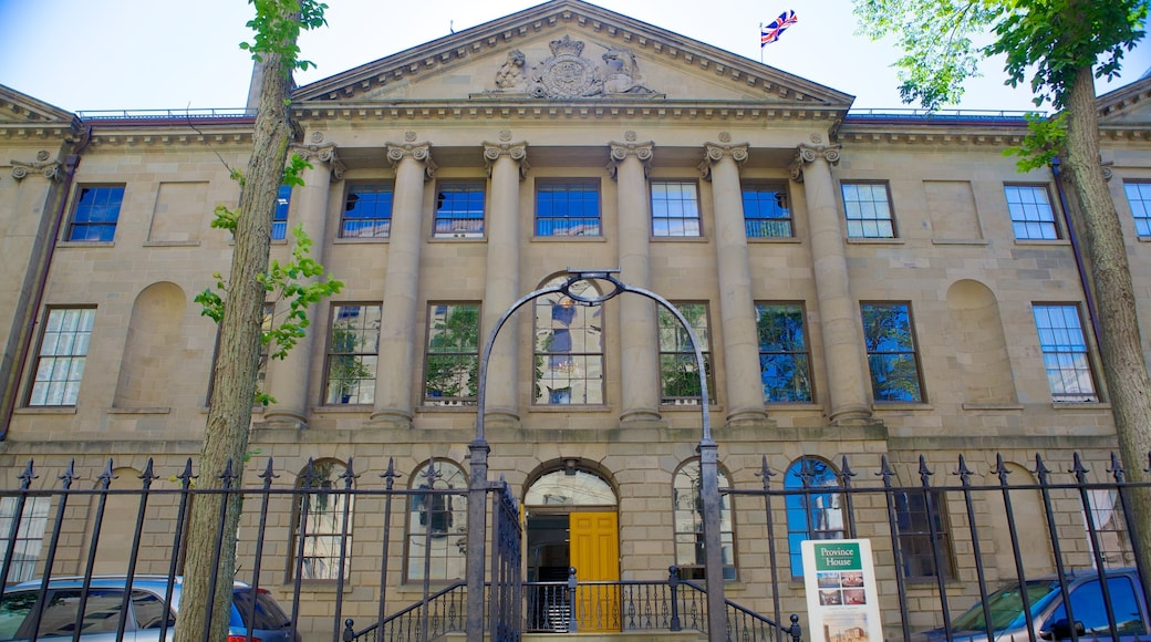 Province House featuring heritage architecture and an administrative building