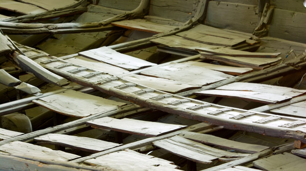 Viking Ship Museum featuring interior views