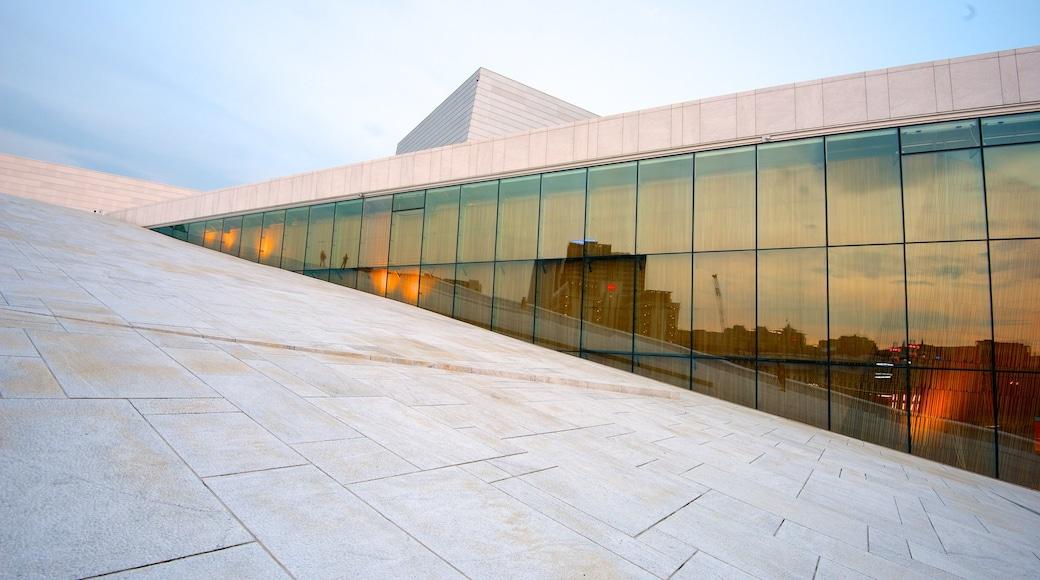 奧斯陸歌劇院 呈现出 劇場環境 和 現代建築