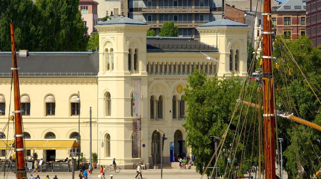 Nobel Peace Center featuring a city