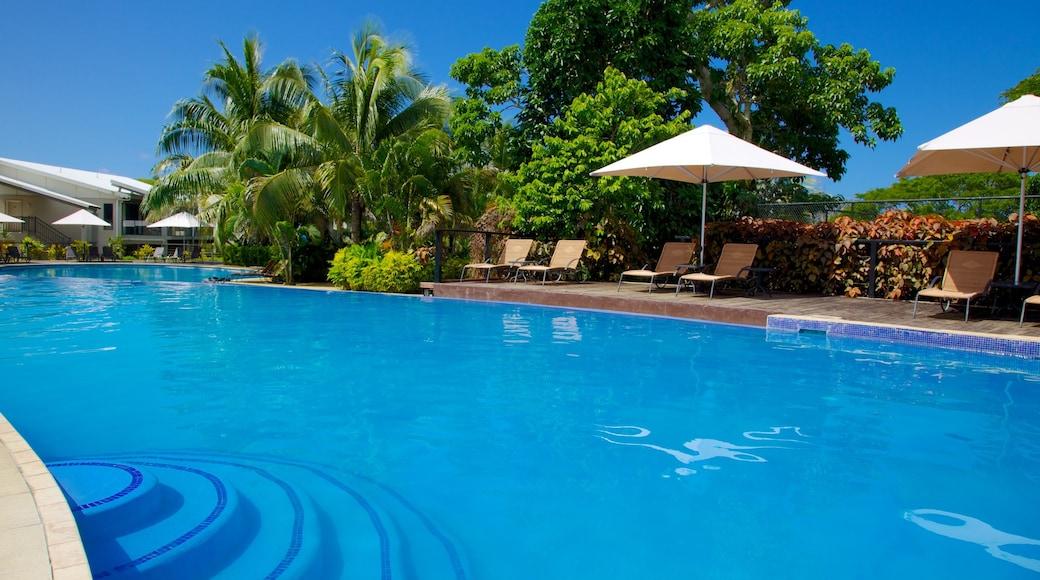 Iririki Island showing a luxury hotel or resort and a pool