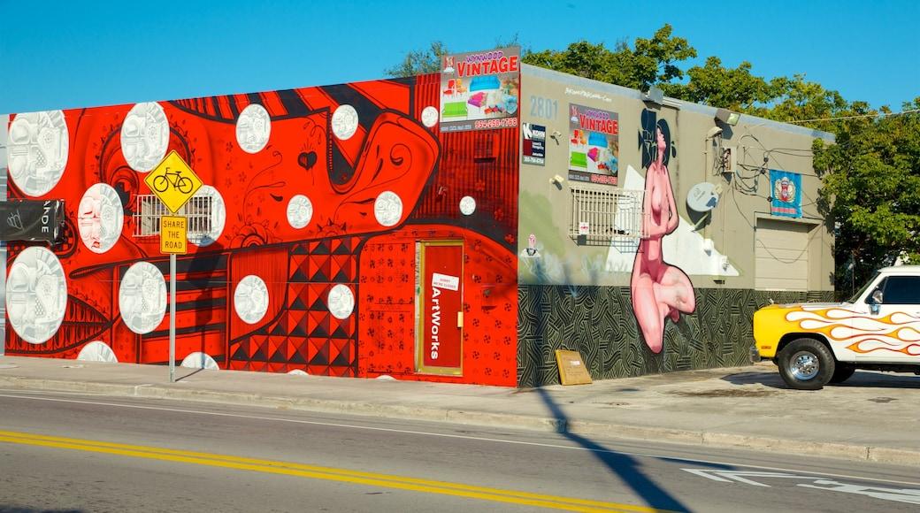 Wynwood Art District showing outdoor art