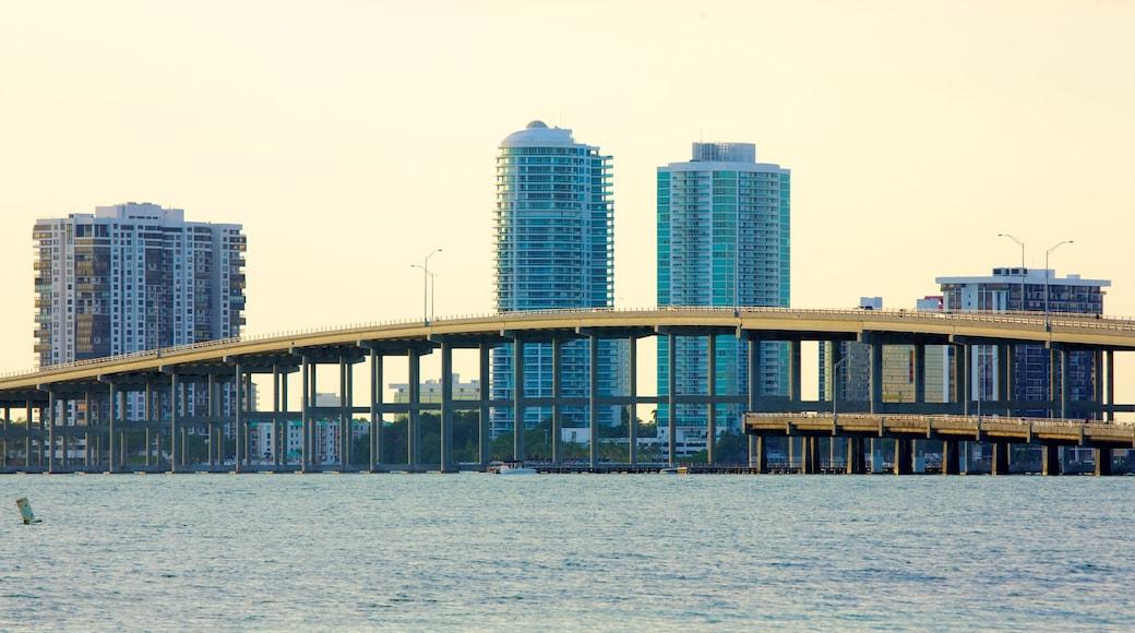 Miami which includes a high rise building, general coastal views and a bridge