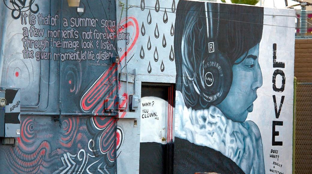 Roosevelt Row featuring outdoor art