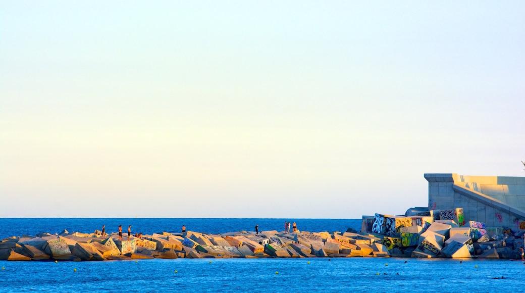 Barceloneta-strandenPlaya de la Barceloneta presenterar utsikter och kustutsikter