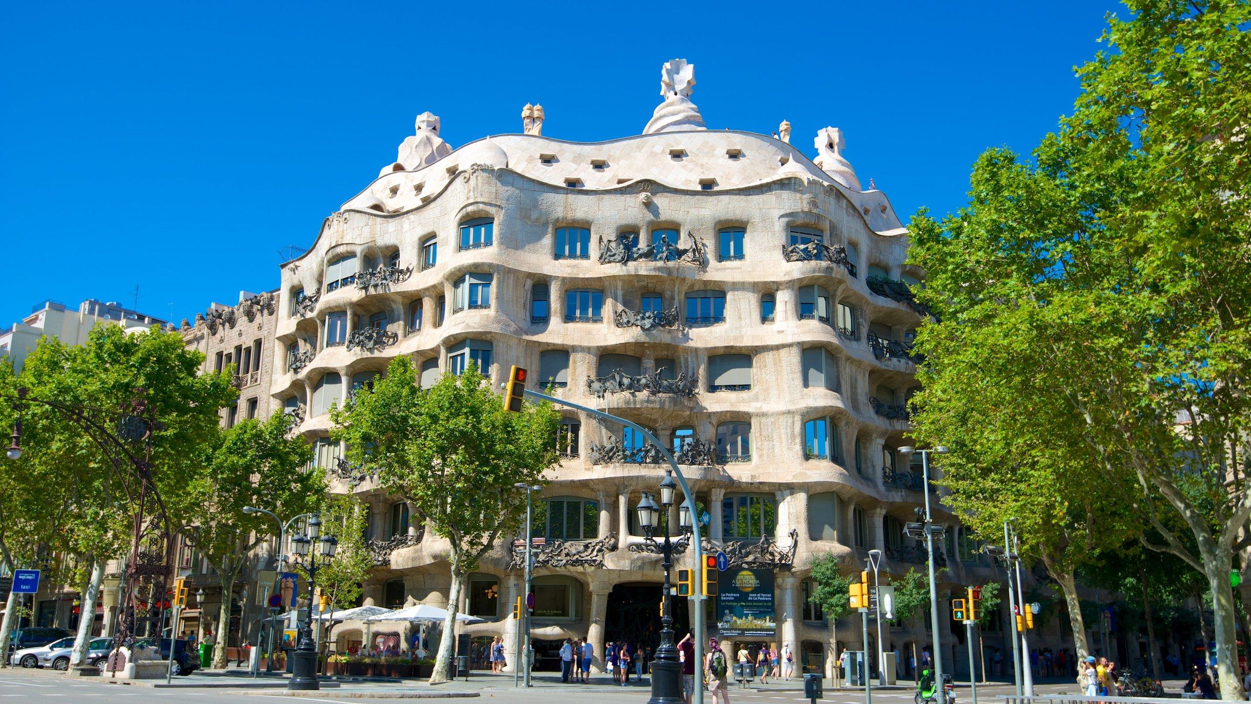 Casa Milà, Barcelona, Katalonien, Spanien