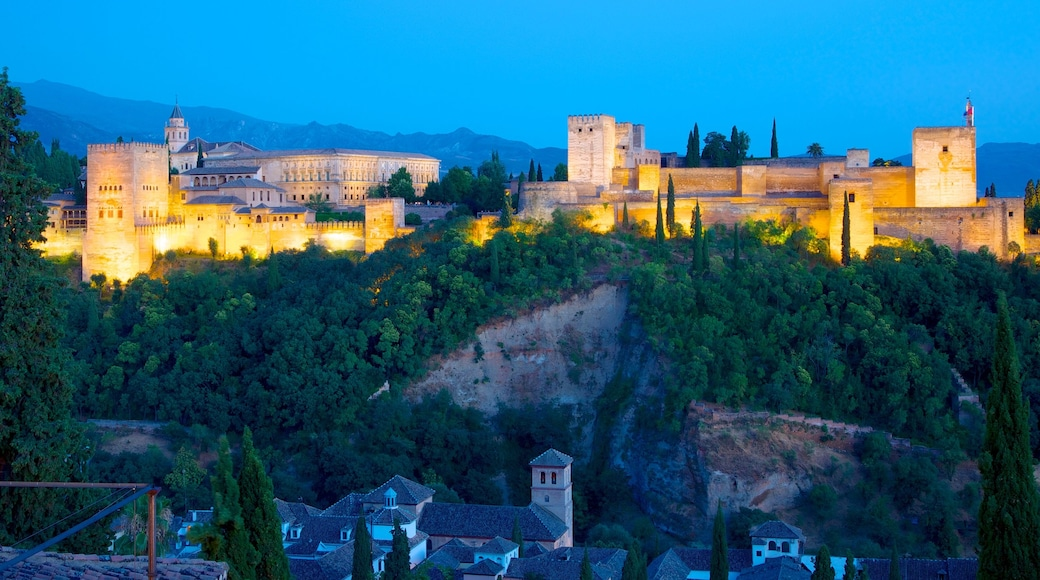 Mirador de San Nicolas featuring heritage architecture, a gorge or canyon and night scenes