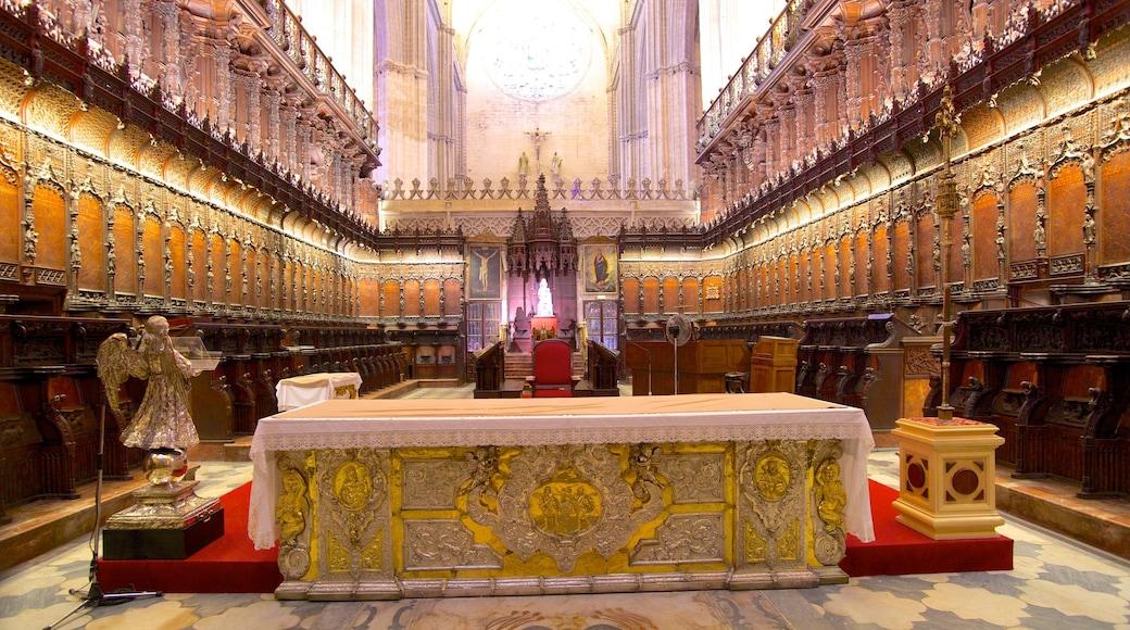 Kathedrale von Sevilla welches beinhaltet religiöse Elemente, Kirche oder Kathedrale und historische Architektur