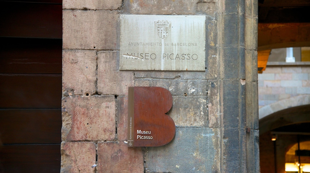 Picasso Museum showing signage