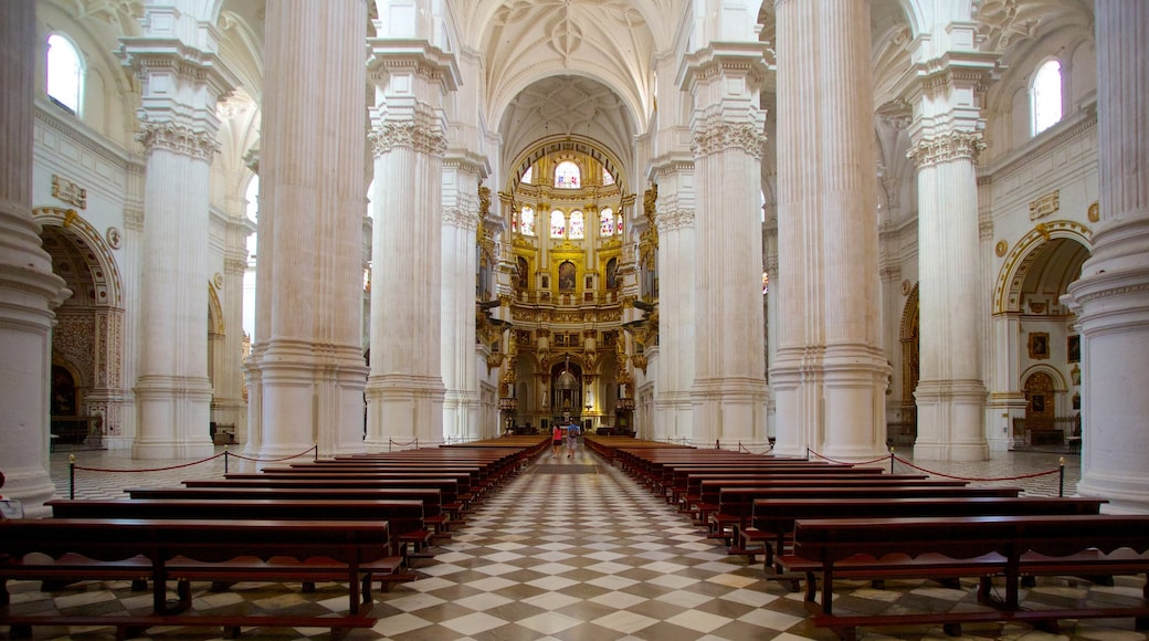 Granada Cathedral showing heritage architecture, a church or cathedral and religious aspects