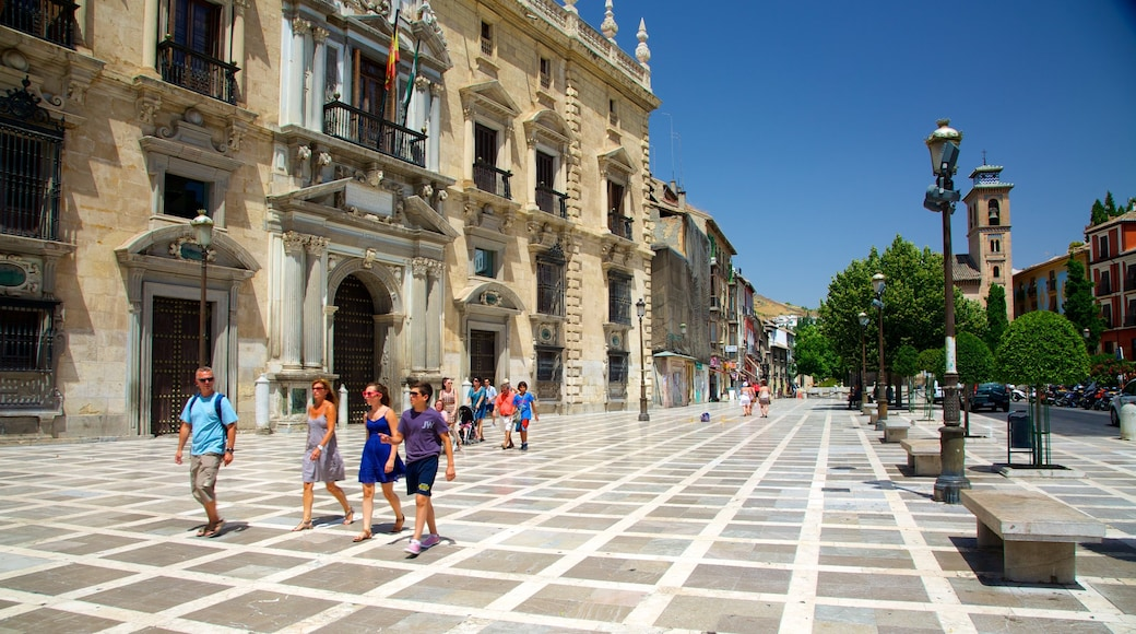 Plaza Nueva featuring heritage architecture, an administrative building and a square or plaza