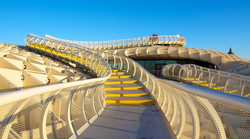 Metropol Parasol featuring modern architecture and views