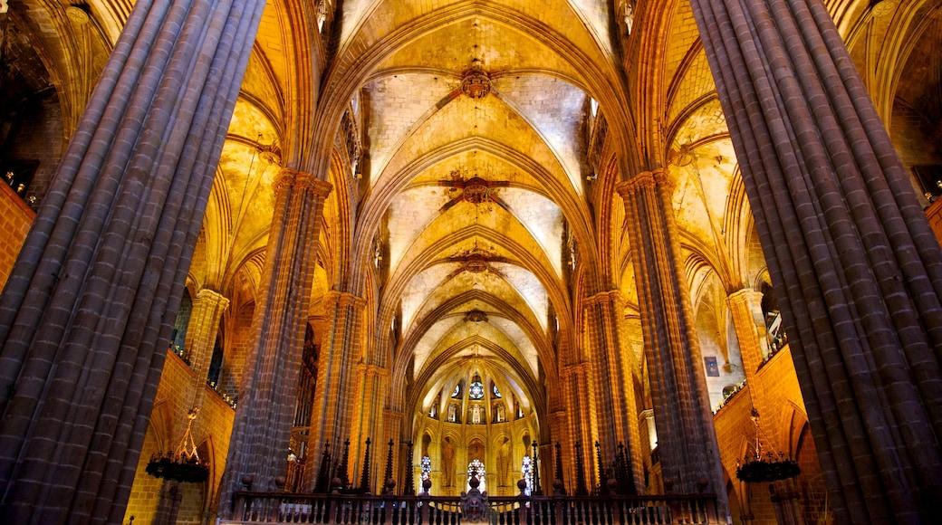 Barcelonan katedraali featuring sisäkuvat, vanha arkkitehtuuri ja kirkko tai katedraali