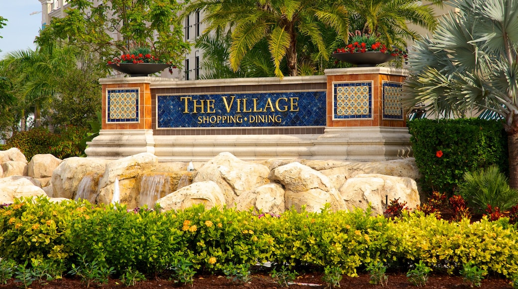 Gulfstream Park Racing and Casino featuring signage, a garden and a casino