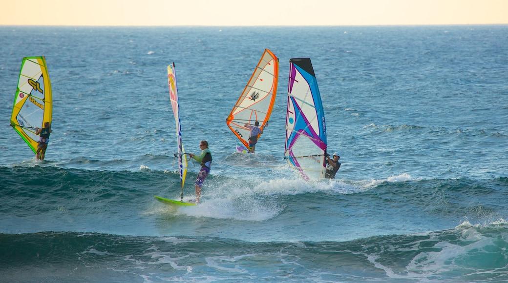 Hookipa Beach Park featuring windsurfing and surf