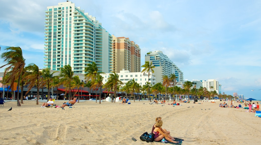 Fort Lauderdale Beach which includes a beach and a luxury hotel or resort