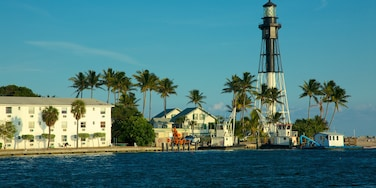 Fort Lauderdale featuring a lighthouse, tropical scenes and a bay or harbour
