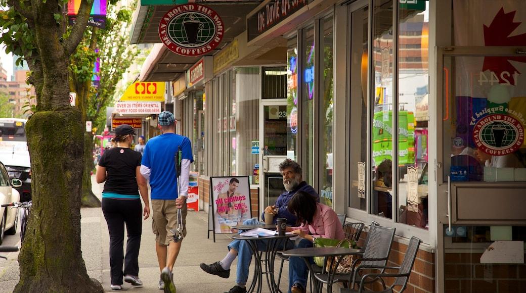 West End ofreciendo una ciudad, comidas al aire libre y imágenes de calles