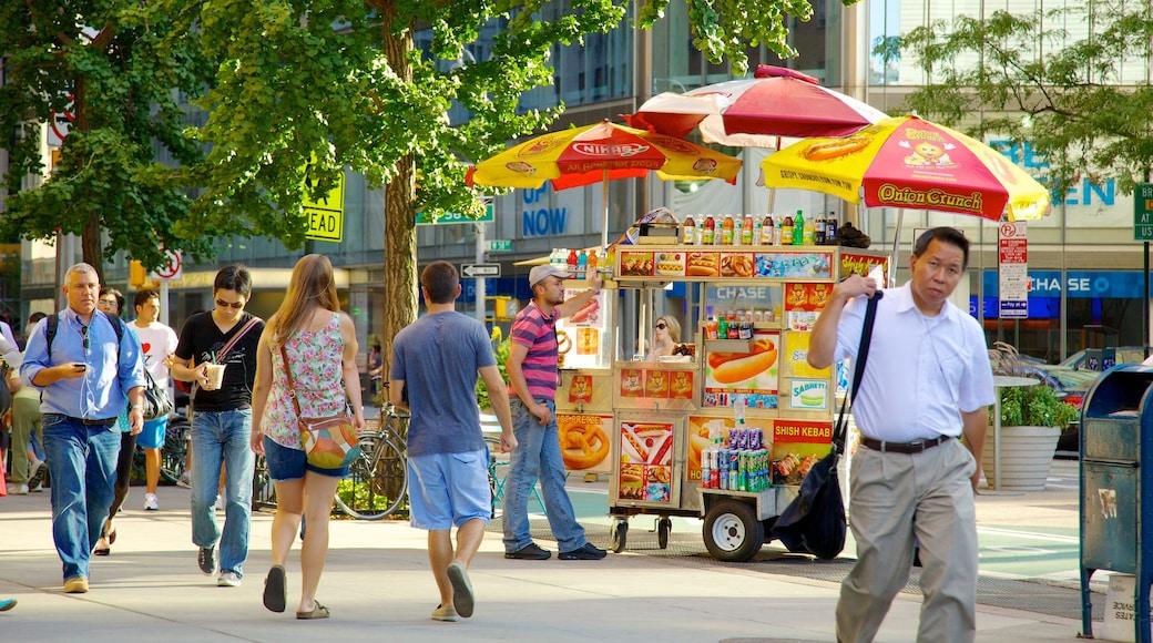 Columbus Circle ofreciendo comida, imágenes de calles y una ciudad