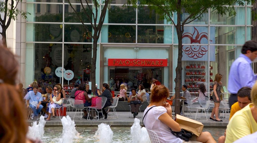 5th Avenue caratteristiche di fontana, mangiare all\'aperto e bar e caffè